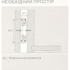 Направляющая телескопическая L-250 с доводчиком 4587110H