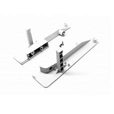 Белое крепление передней панели на 1 КРУГЛЫЙ релинг M02011(H03) для внут - го ящика