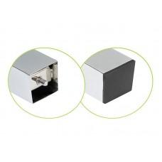 Опора для стола 710 60*60 мм квадратная G6 хром матовый алюминий сталь. верхнее крепление NG 710-KW 1 DC SL
