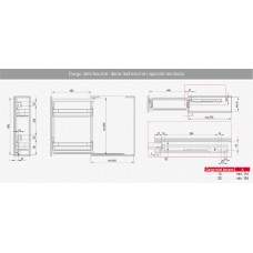 Карго боковое 150 левое хром/белый MAXIMA EVO II Rejs WE27.5437.08.374