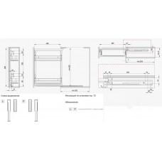 Карго боковое 150 левое хром/графит MAXIMA SILVA Rejs WE32.0013.43.781