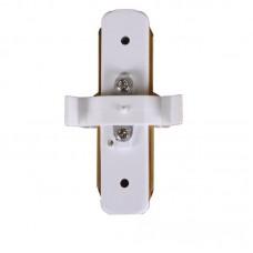 Коннектор для трекового LED светильника прямой белый