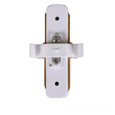 Коннектор для трекового LED светильника прямой белый - EH-TC-0001
