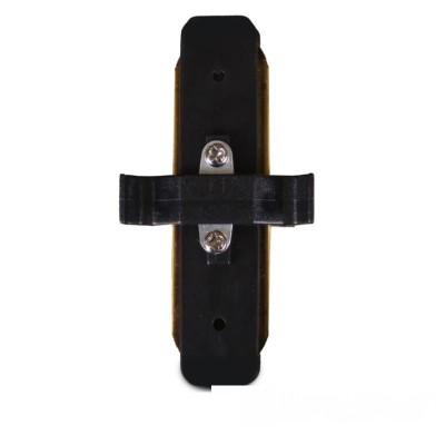 Коннектор для трекового LED светильника прямой черный - EH-TC-0003