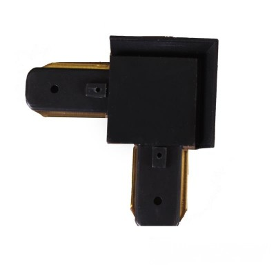 Коннектор для трекового LED светильника угловой черный - EH-TC-0004