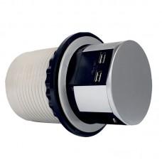 Компактная мебельная розетка EH-AR-302