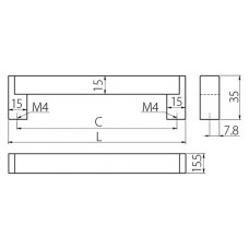 Ручка UZ-334 шлифованная сталь