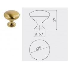 Ручка кнопка GTV TERNI d 30 мм Золотая латунь