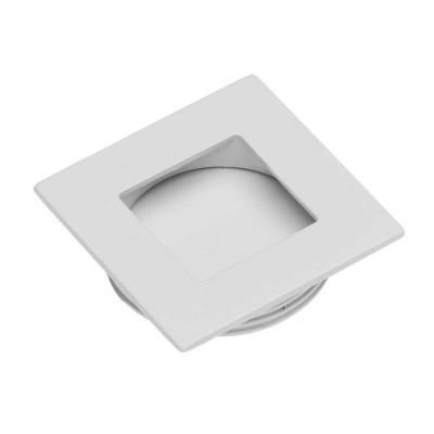 Ручка врезная квадрат B226 (d 35, Белая) - UZ-00B226-10