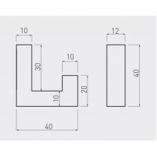 Крючок мебельный GTV K2201 Сталь