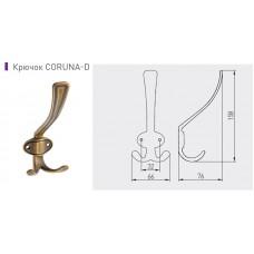 Крючок GTV CORUNA большой, бронза коричневая