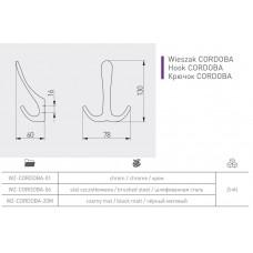 Крючок GTV CORDOBA хром
