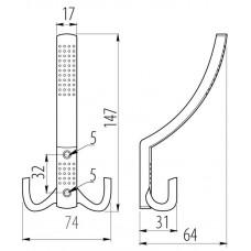 Крючок мебельный A0-K23 Хром