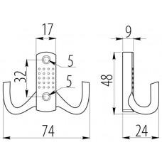 Крючок мебельный B0-K23 Бронза
