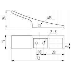 Крючок мебельный 804 Хром