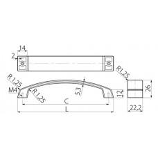 Ручка G1 128 мм Хром