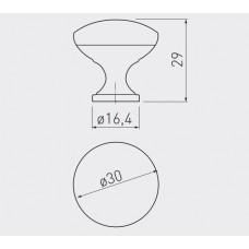 Ручка кнопка GTV TERNI d 30 мм Медь