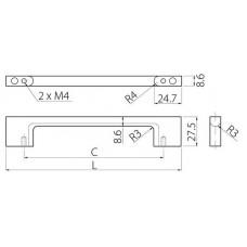 Ручка UZ-819 256 мм Хром