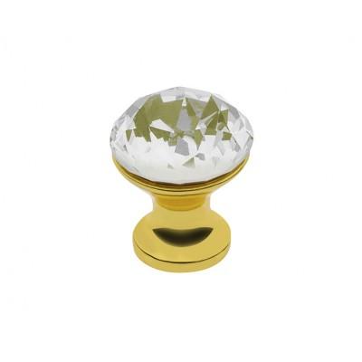 Ручка мебельная Crystal Palace CRPB d 25 Золото + Кристалл - GZ-CRPB25-03