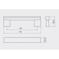 Ручка GTV B-311160 мм Хром