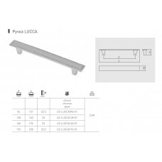 Ручка GTV LUCCA 192 мм Хром