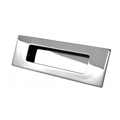 Ручка врезная E6 128 мм Хром - uz-e6-128-01