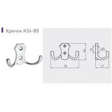 Крючок мебельный B0-K24 Сатин
