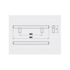 Ручка релинг GTV 384/464 мм Сатин