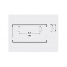 Ручка релинг GTV 608/688 мм Сталь