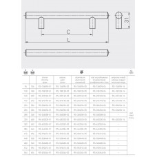 Ручка релинг GTV 256/336 мм Античная медь