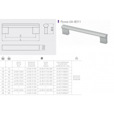 Ручка GTV BO-311 224 мм Черный
