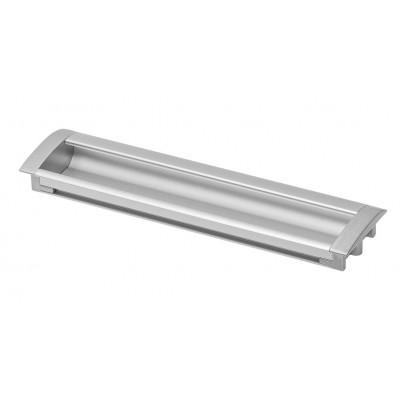 Ручка врезная UA-326 (128 мм, Алюминий) - UA-00-326128