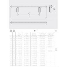 Ручка релинг GTV 352/432 мм Сатин