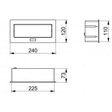Удлинитель для офиса SOFT на 3 розетки SCHUKO белый + провод 1,5 метра с вилкой