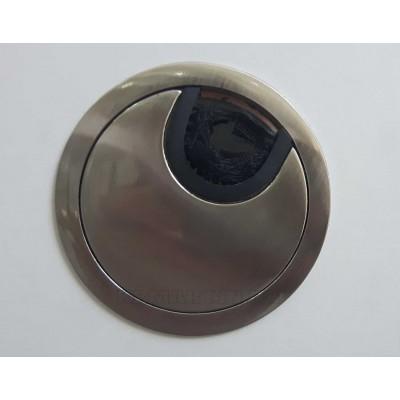 Заглушка под кабеля d 60 металлическая сатин - PM-LBFI60-02