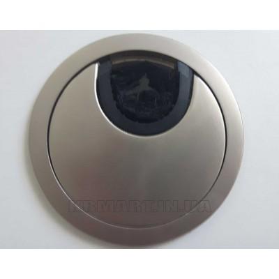 Заглушка под кабеля d 60 металлическая сталь - PM-LBFI60-06