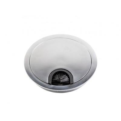 Заглушка под кабеля d 80 металлическая алюминий - PM-LBFI80-05