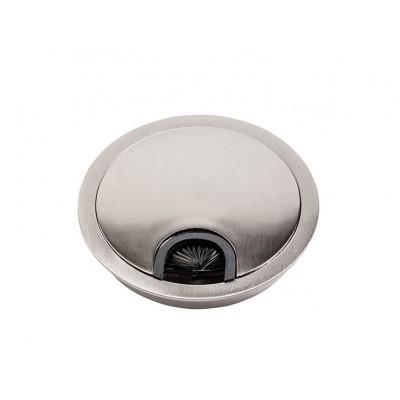 Заглушка под кабеля d 80 металлическая сатин - PM-LBFI80-02