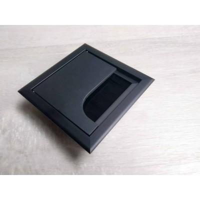 Заглушка под кабеля Merida 80х80 черная - LB-K80X80-20