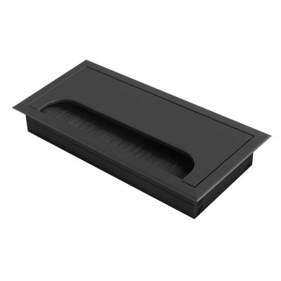 Заглушка под кабеля Merida 80х160 черная - LB-80X160-20