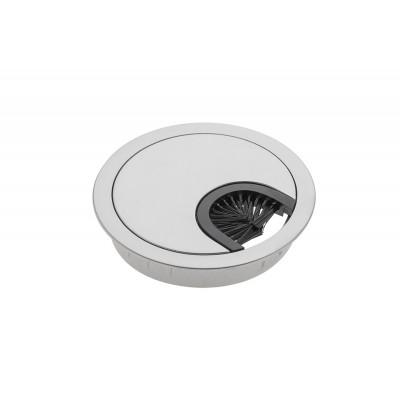 Заглушка под кабеля d 60 металлическая алюминий - PM-LBFI60-05