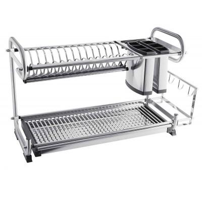 Сушка для посуды и столовых приборов настольная, двухуровневая 252х670х385 - OC-A0460D-06