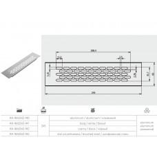 Решетка вентиляционная GTV Сталь 245x60