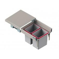 Мусорное ведро REJS Comfort Box 50 H = 410 направляющая L-500 серое