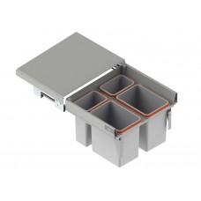 Мусорное ведро REJS Comfort Box 60 H = 350 направляющая L-450 серое