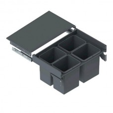 Мусорное ведро REJS Slim Box 80 H = 410 направляющая L-500 графит