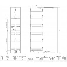 Карго REJS Maxima Classic макси 5 уровней 400 Хром
