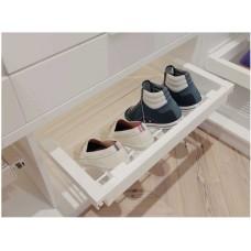 Полка для обуви elite 700 мм с доводчиком, цвет белый