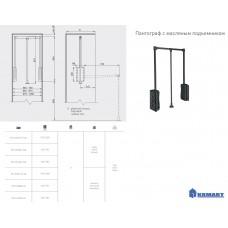 Пантограф GTV с масляным подъемником 545-700мм до 8 кг Графит