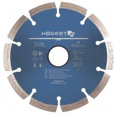 Диск алмазный HOGERT 125 мм толщина 2,2 мм для резки газобетона кирпича строительных материалов